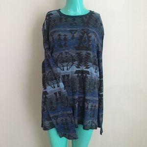 🌺 American Rag Aztec Thermal Sweater Long Sleeve